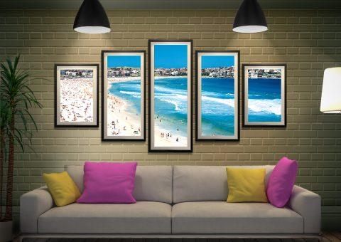 Bondi 5-Panel Art Set Great Gift Ideas AU