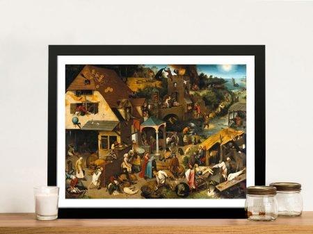 Dutch Proverbs Framed Classic Canvas Artwork