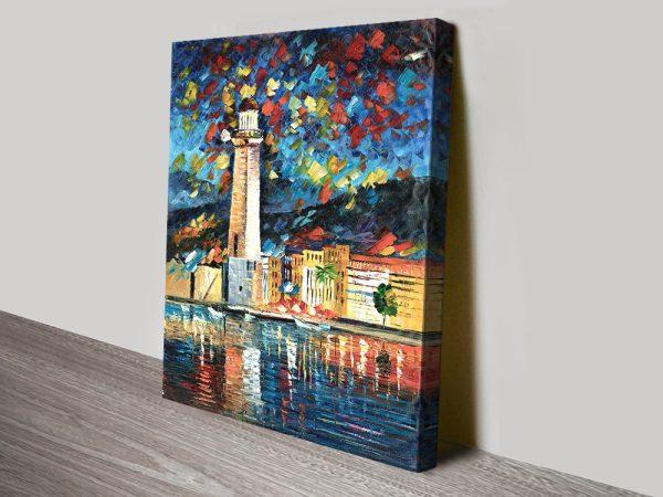 City Lighthouse Quality Canvas Artwork