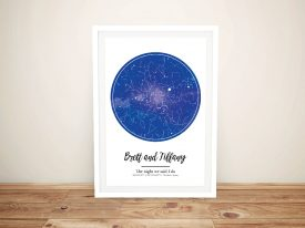 Personalised Night Sky Star Map Art Print