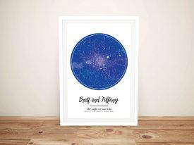 Personalised Night Sky Star Map Art Print