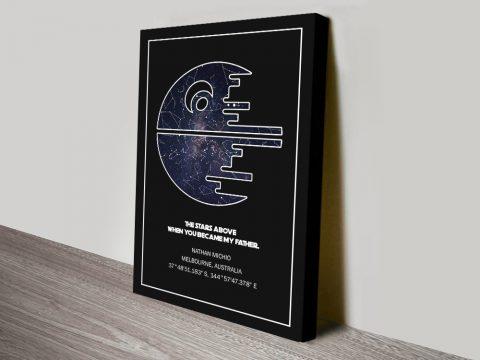 Star Wars Death Star Custom Star Map