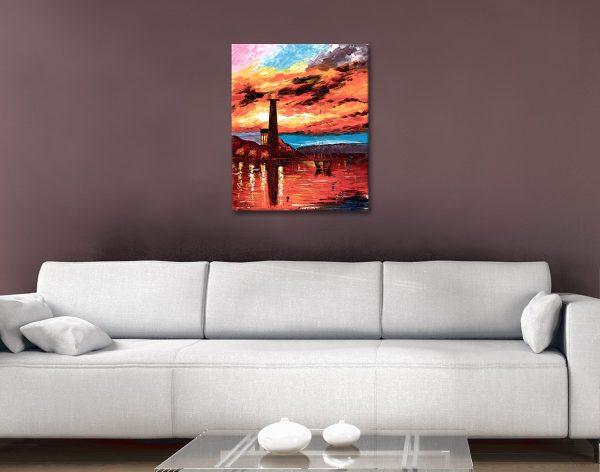 Firey Lighthouse Leonid Afremov Art for Sale AU