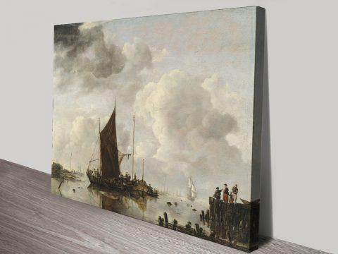 Buy Harbour Scene Classic Wall Art