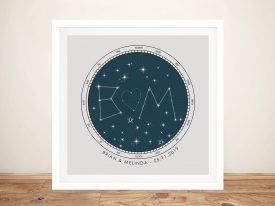 Initial Custom Star Map Wall Art
