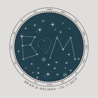 Initials Custom Star Map