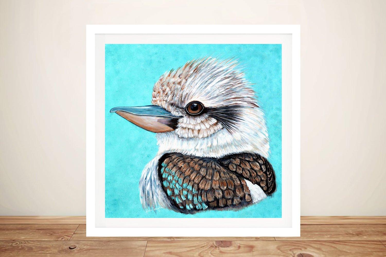 Kookaburra Gaze Framed Linda Callaghan Print