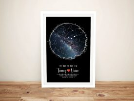 Scribble Star Map Bespoke Wall Art