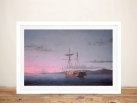 Lumber Schooners at Evening Classic Wall Art