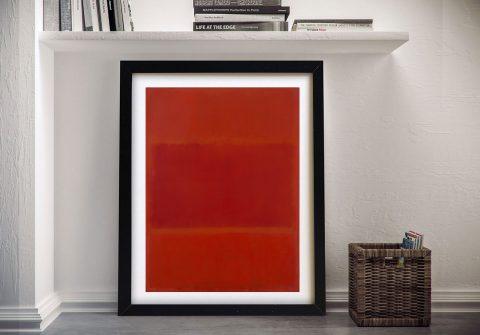 Red & Orange Framed Mark Rothko Wall Art