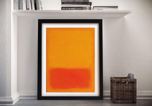 Orange & Yellow Artwork Unique Gifts AU