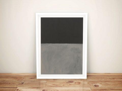 Black on Grey Abstract Mark Rothko Artwork