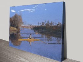 Max Schmitt in a Single Scull Classic Art Print