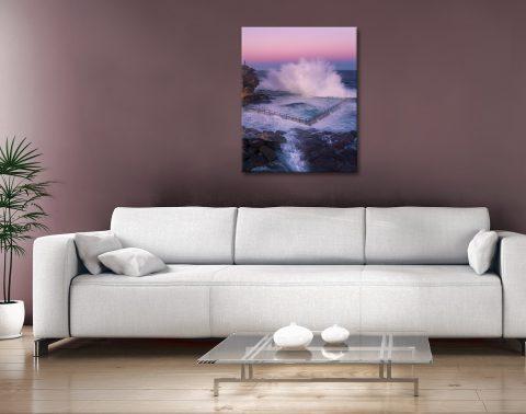 Ocean Pool Splash Ready to Hang Art for Sale AU