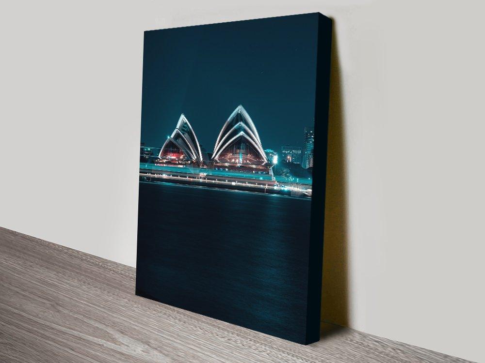 Buy Opera House at Night Canvas Art