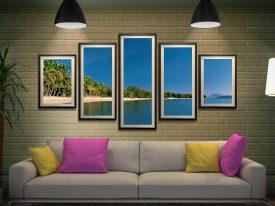Port Douglas Framed Split-Diamond Art Set