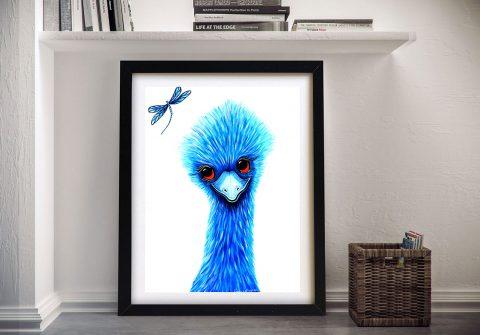 Framed Making Friends Cute Australian Art