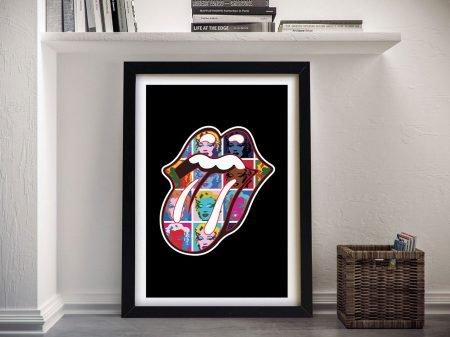 Rolling Stones Warhol Marilyn Canvas Art