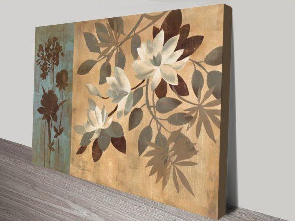 Romantic Magnolias Floral Abstract Artwork