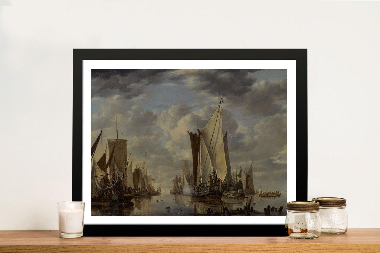 Shipping in a Calm at Flushing Nautical Art