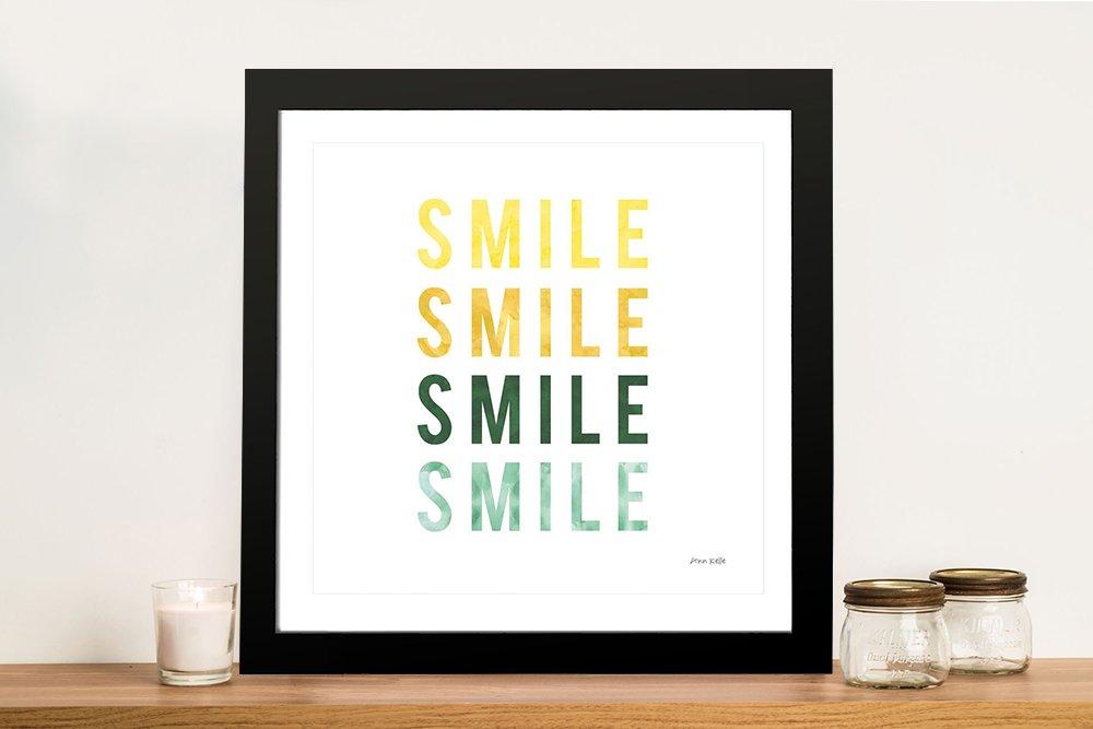 Smile Smile Fun Framed Print on Canvas