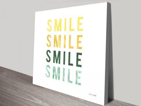 Smile Smile Stretched Canvas Kids Art Online