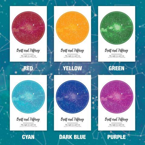 Star maps colour options