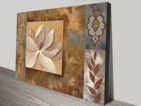Sunset Flower Mixed Media Canvas Print