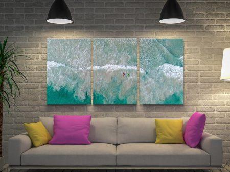 Surfs Up Triptych Matt Day Canvas Artwork