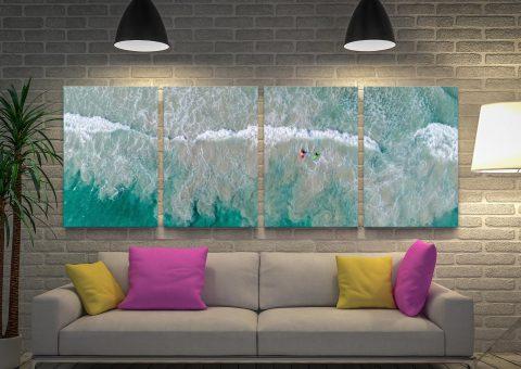 Surfs Up 4-Piece Canvas Set by Matt Day