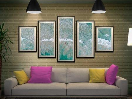 Buy a Framed Surfs Up 5-Piece Canvas Set