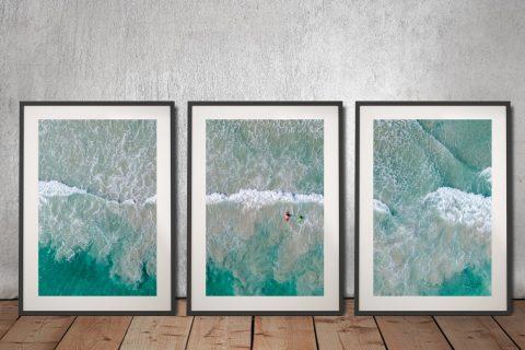 Surfs Up Framed Triptych Art for Sale Online