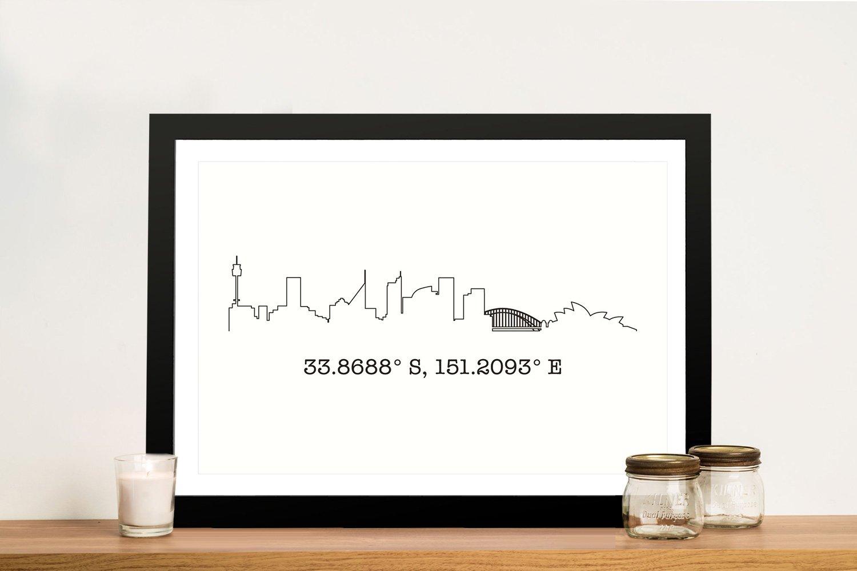 Skyline & Coordinates Custom Art Cheap Online