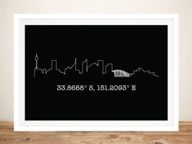 Personalised Skyline and Coordinates Artwork