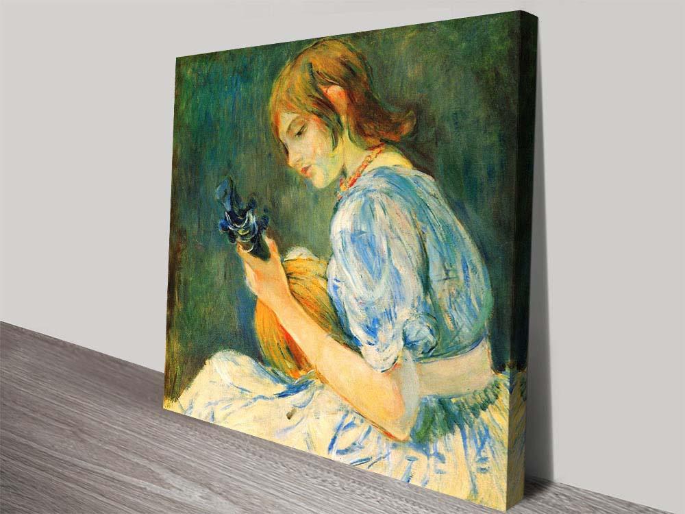 Buy The Mandolin Art Print by Berthe Morisot