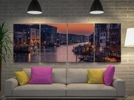 Venice Grand Canal 4-Panel Canvas Print Set