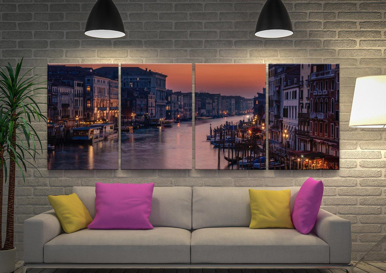 Venice Grand Canal 4-Panel Canvas Print Set