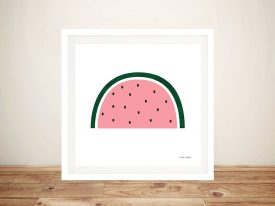 Framed Watermelon Ann Kelle Canvas Print