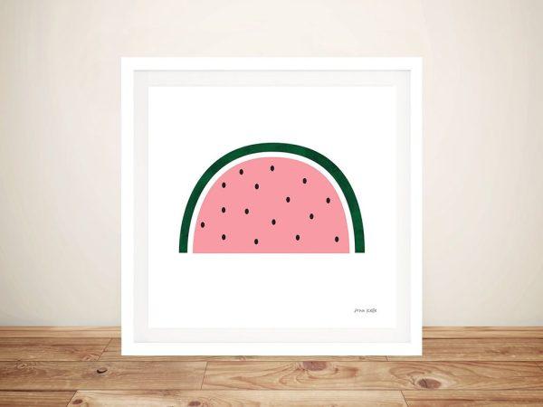 Framed Watermelon Ann Kelle Canvas Print