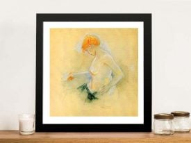 Young Woman Drying Framed Canvas Print