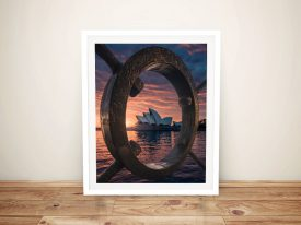 Australian Dawn Architectural Canvas Art