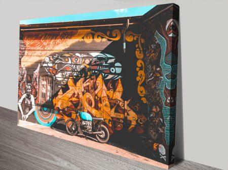 Bike CruiserStretched Canvas Art Print