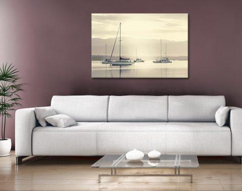 Bay Boats at Dawn Print Home Decor Ideas AU