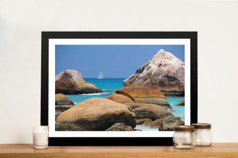 Framed Beach Boat Art for Sale Gift Ideas Online