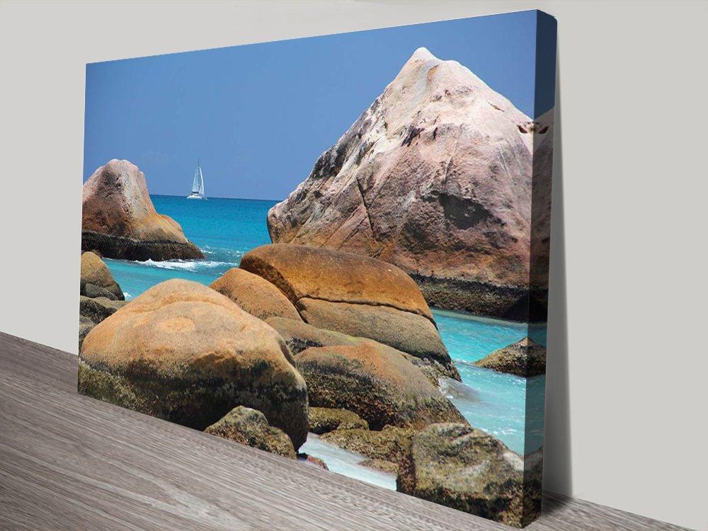 Beach Boat Seascape Canvas Wall Art