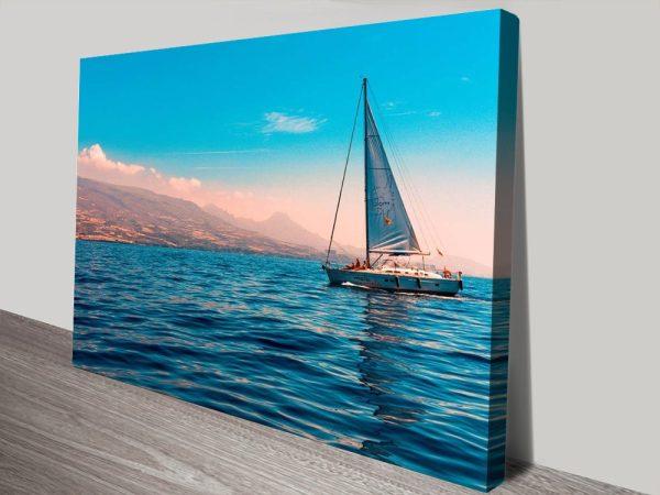 Blue Sky Ocean Recreation Affordable Art