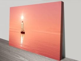 Sailboat Sunset Stretched Canvas Art
