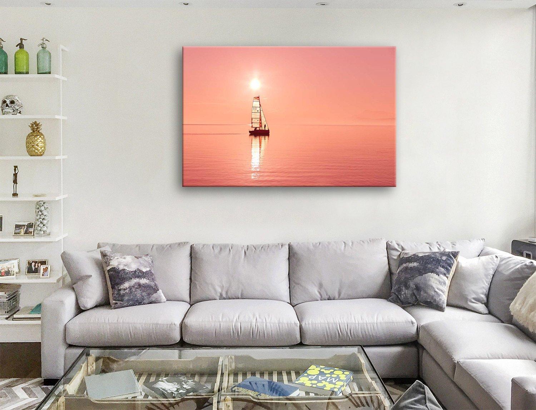 Sailboat Sunset Seascape Art Cheap Online