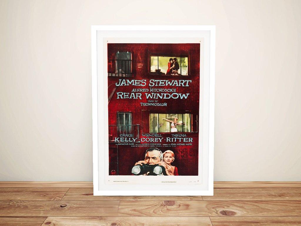 Rear Window Movie Poster Framed Art Print