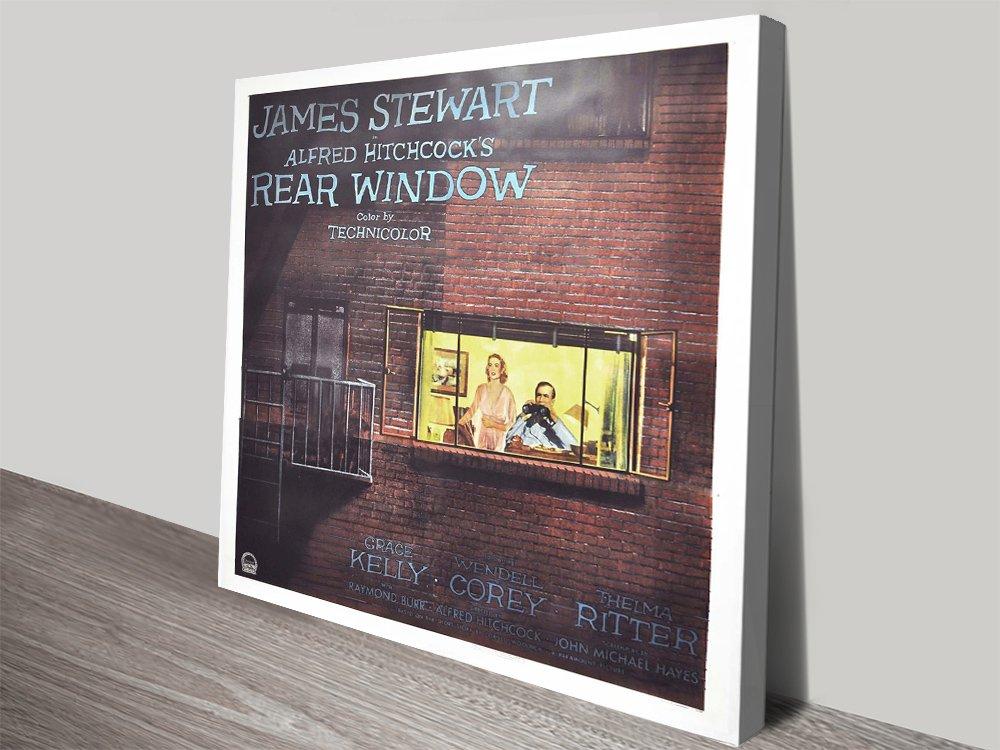 Rear Window Movie Poster Canvas Artwork